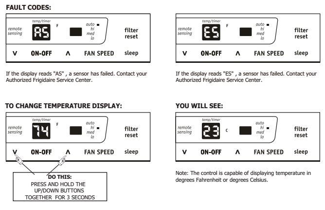 Frigidaire Air conditioner faz12hr2a Manual
