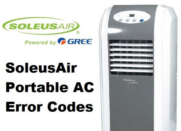 SoleusAir Portable AC Error Codes | ACErrorCode com