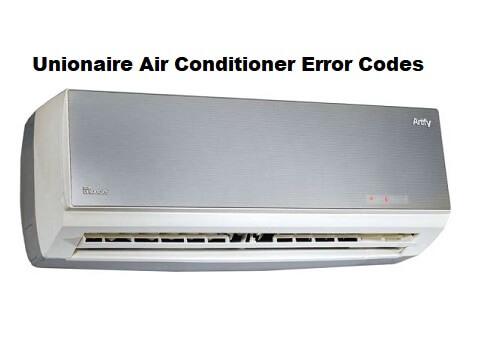 Unionaire Air Conditioner Error Codes