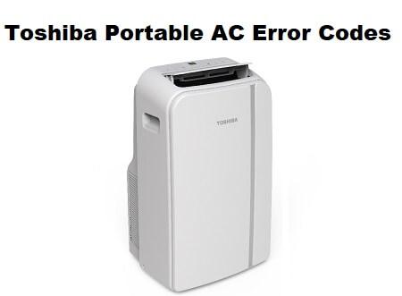 Toshiba Portable AC Error Codes