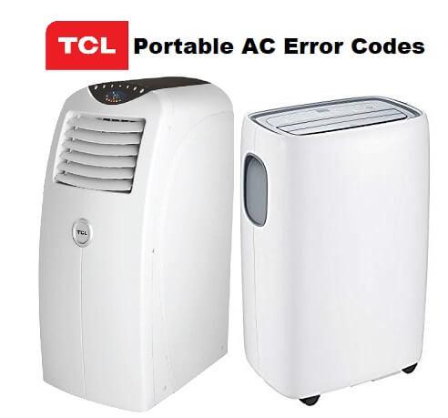 TCL Portable Air Conditioner Error Codes