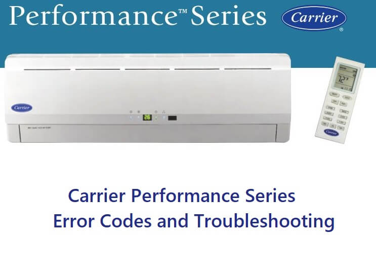 Carrier Performance Series Error Codes and Troubleshooting