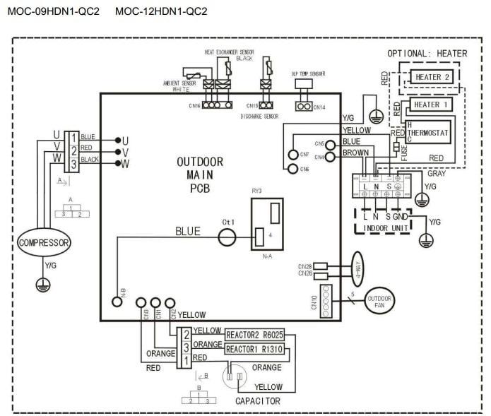 Midea AC Outdoor Unit Wiring Diagram