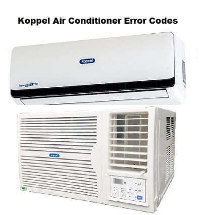 Koppel Air Conditioner Error Codes | ACErrorCode com