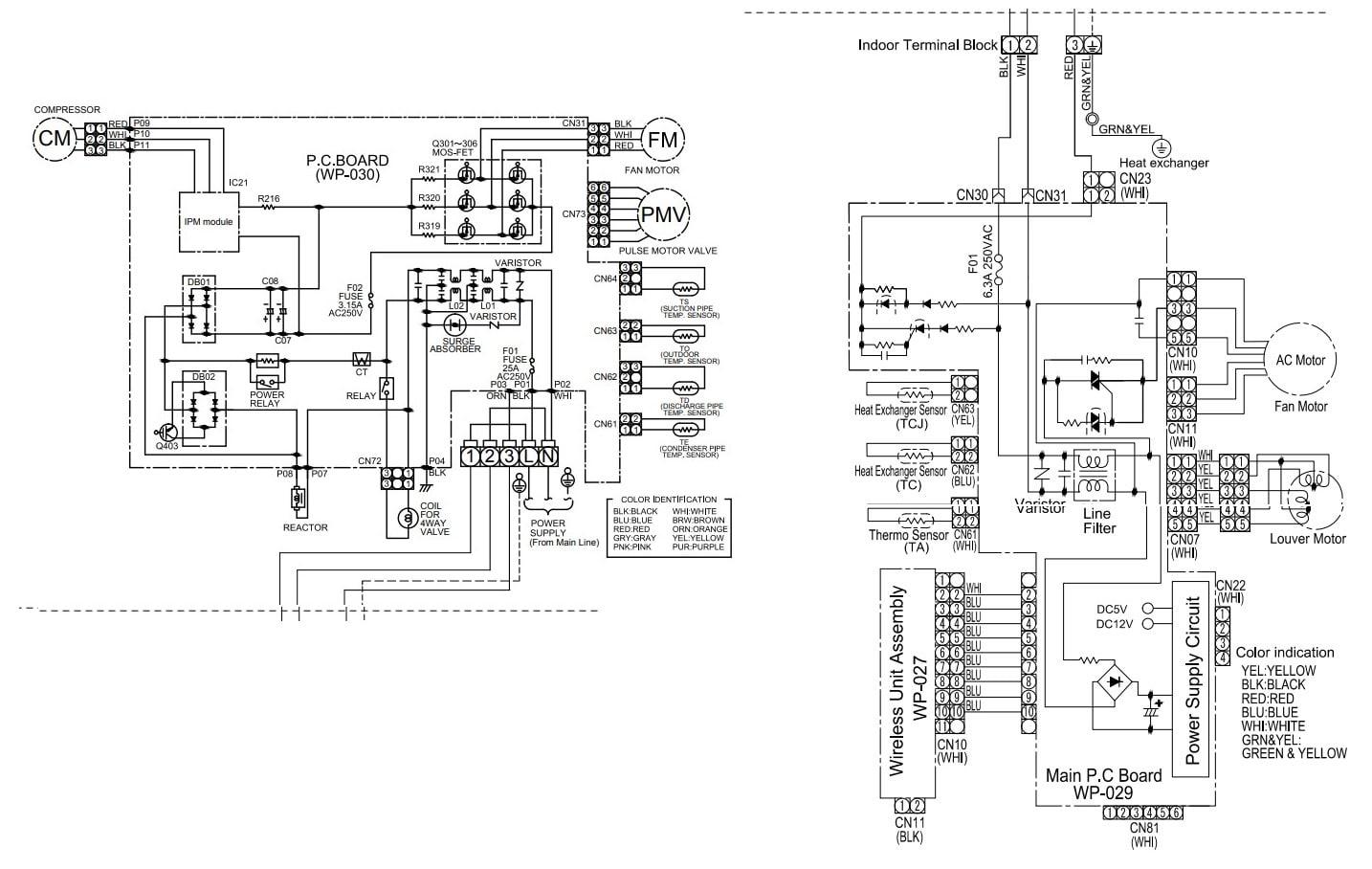 Toshiba AC Wiring Diagram RAS-B10N3KV2-E1 RAS-10N3AV2-E1