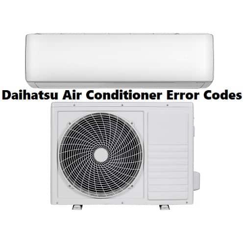 Daihatsu Air Conditioner Error Codes