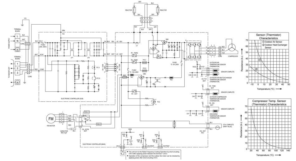 Panasonic AC Electronic Circuit Diagram-Outdoor Unit